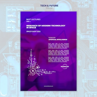 Mock-up poster tech e concetto futuro