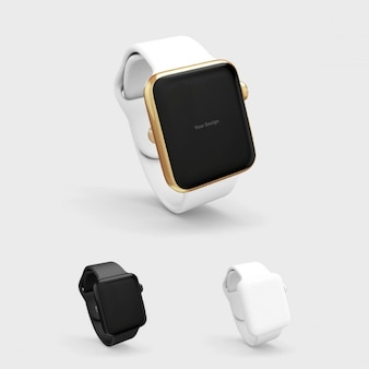Mock up realista de smartwatch