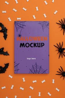Mock-up samenstelling voor halloween-rand