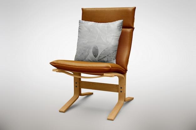 Mock up de silla marrón