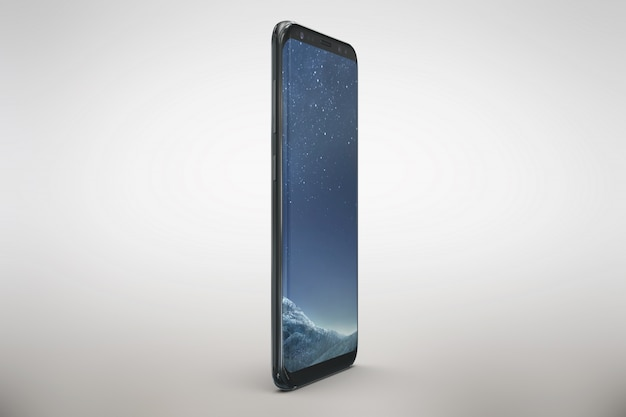 Mock up de smartphone con vista lateral