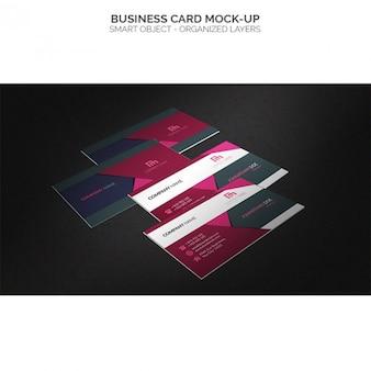 Mock up de tarjetas de visita multicolor
