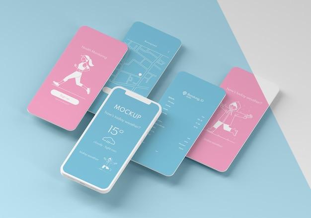 Mock-up van de gebruikersinterface van de mobiele telefoon