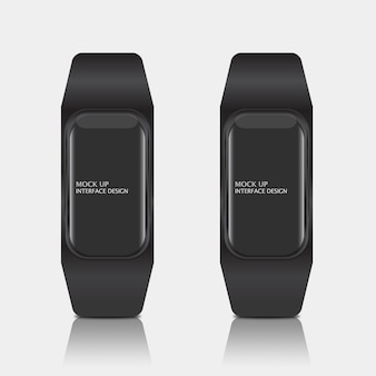Mock up van digitale display-interface voor smart watch