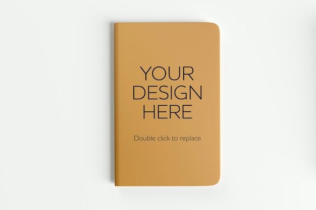Mock up van een notebook 3d-rendering