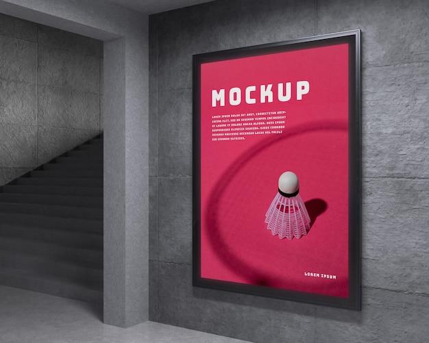 Mock-up van een stedelijk verlicht weergavesysteem