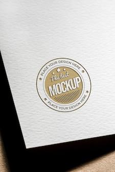 Mock-up van grof papier voor visitekaartjes