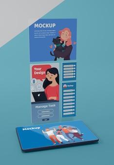 Mock-up van moderne sociale media-app-interface
