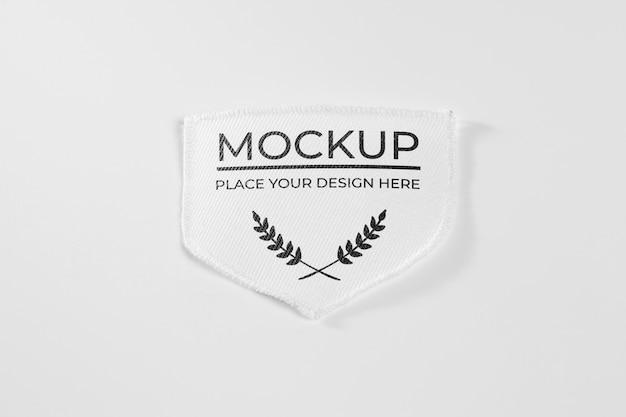 Mock-up van witte stoffen kledingstuk