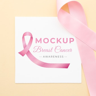 Mock-up voor bewustzijn van borstkanker