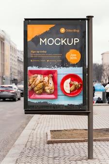 Mock-up voor billboards voor stadsvoedsel