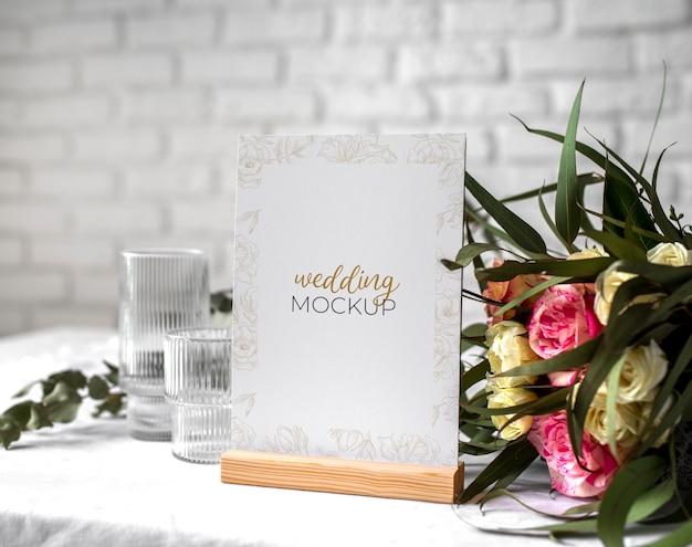 Mock-up voor bruiloftstafel
