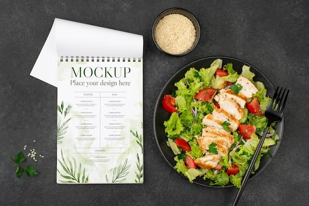 Mock-up voor gezonde voeding plat