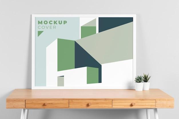 Mock-up voor interieurontwerp