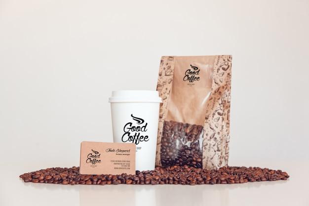 Mock-up voor koffiebranding