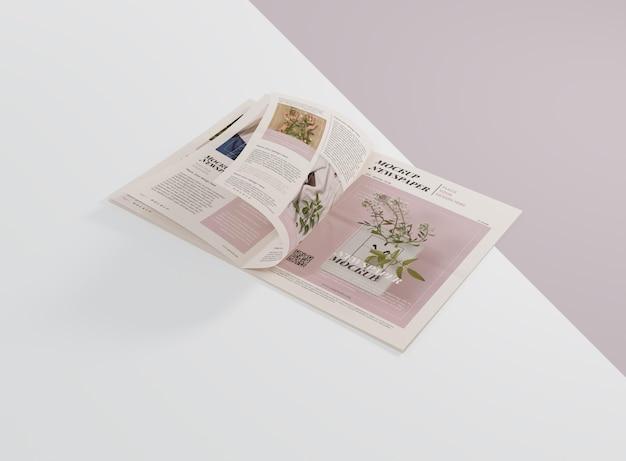 Mock-up voor krant