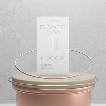 Mock-up voor metalen zwevende koperen visitekaartjes