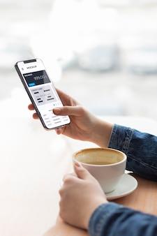 Mock-up voor mobiele betaalapp