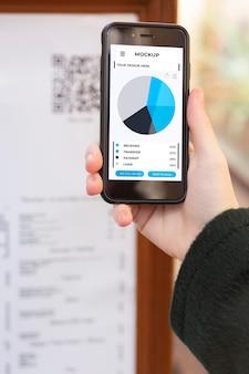 Mock-up voor mobiele betaalapplicatie