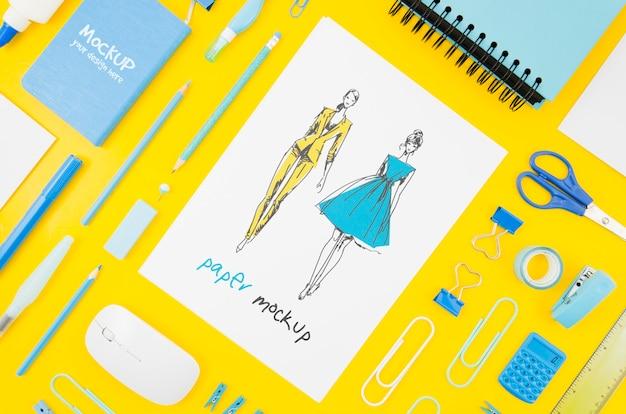 Mock-up voor ontwerper en briefpapier