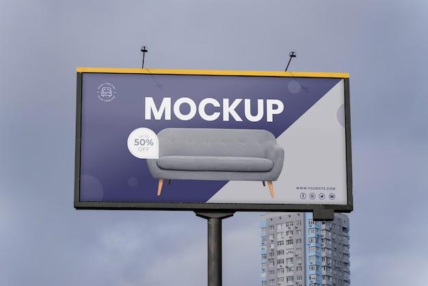 Mock-up voor reclameborden op straat