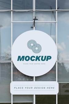 Mock-up voor reclameborden voor straatmarketing bij daglicht