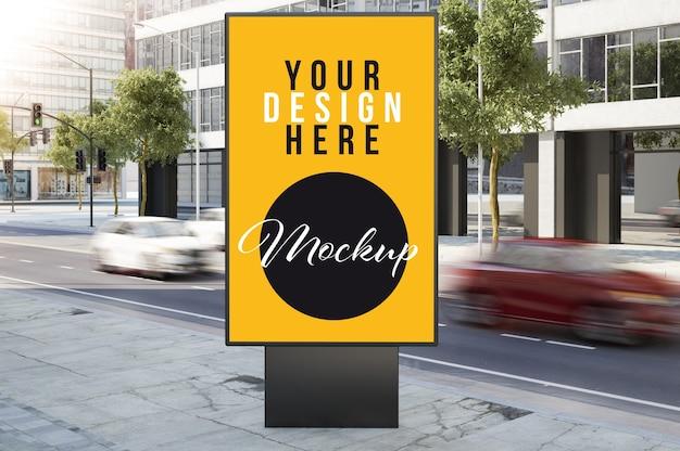 Mock-up voor reclamebus