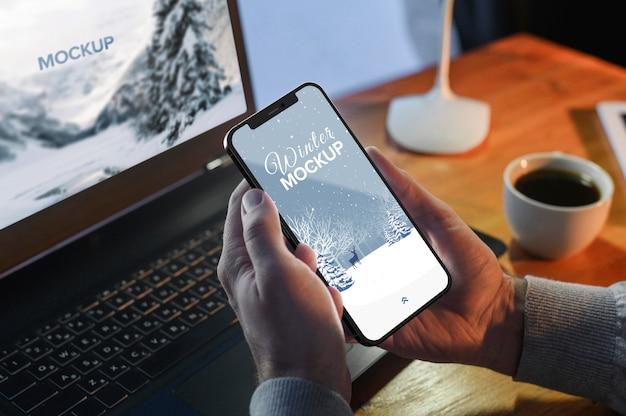 Mock-up voor smartphone-apparaat