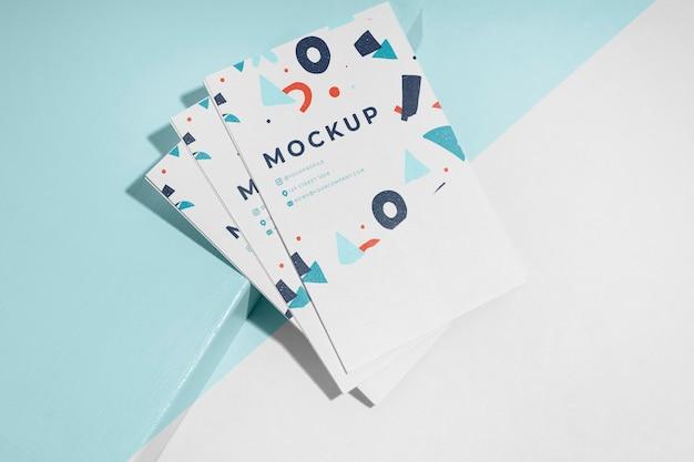 Mock-up voor visitekaartjes