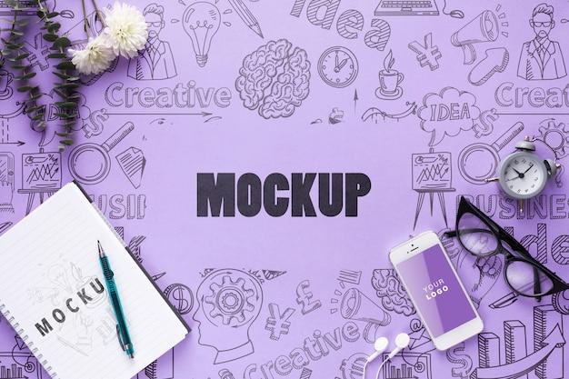 Mock-up vrouw bureau concept