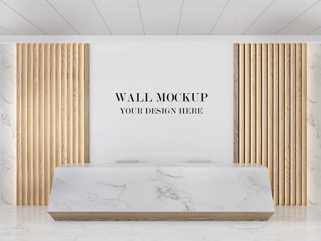 Mockp moderno della parete della sala di ricevimento in marmo