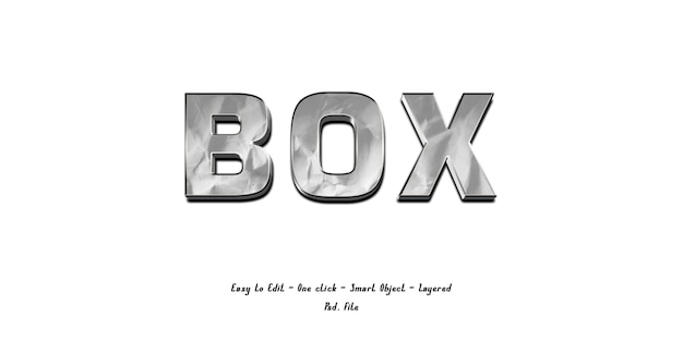 Mockup 3d-effect lettertype alfabet met papier textuur