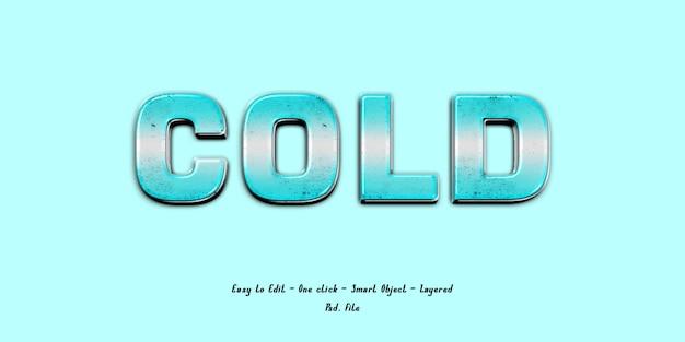 Mockup 3d effect lettertype blauw ijs