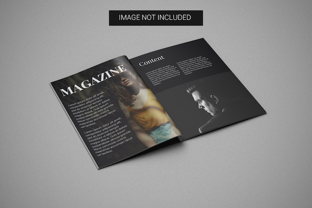 Mockup a4-tijdschrift links