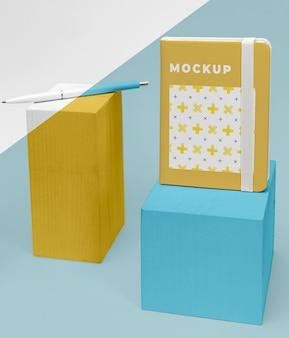 Mockup-agenda en pen