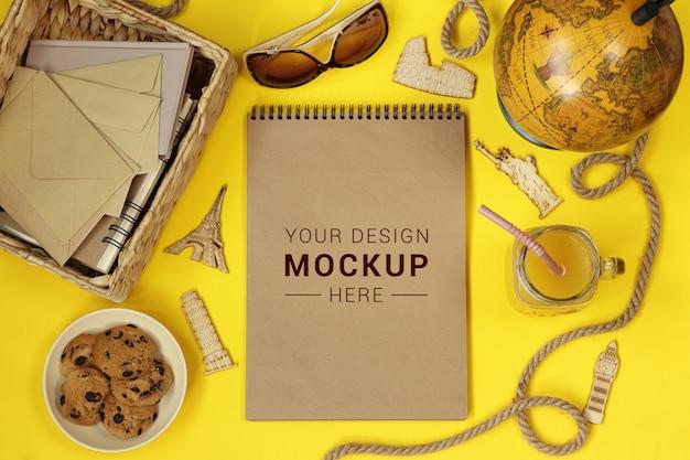 Mockup-album voor op reis