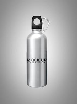 Mockup aluminium drankcontainer