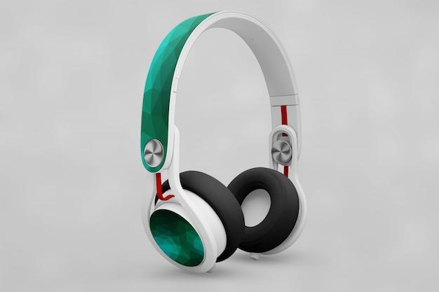 Mockup de auriculares creativos