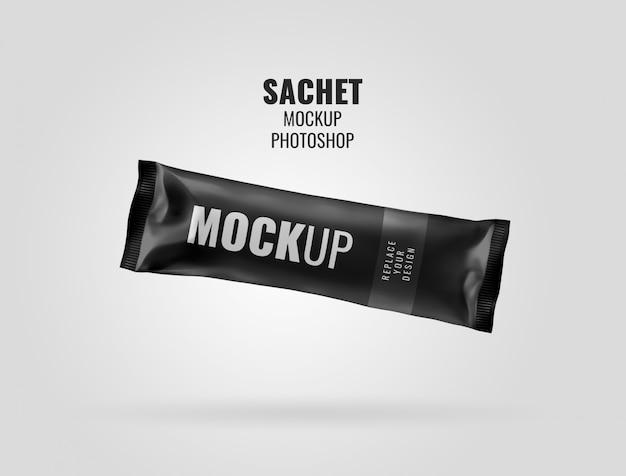 Mockup bar bustina nera
