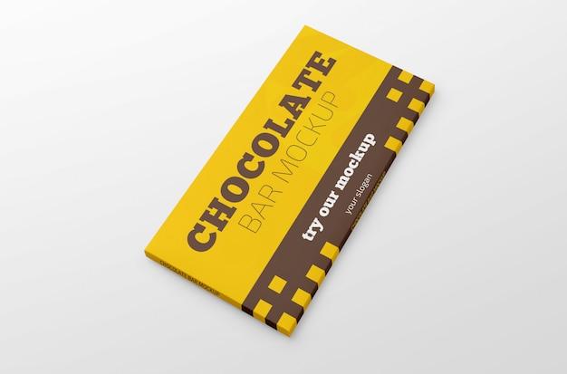 Mockup barretta di cioccolato