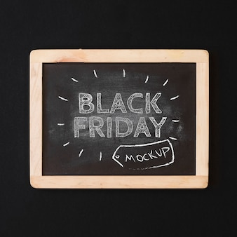 Mockup de black friday con pizarra