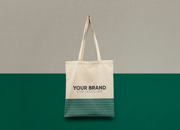 Mockup de bolsa de algodón premium psd