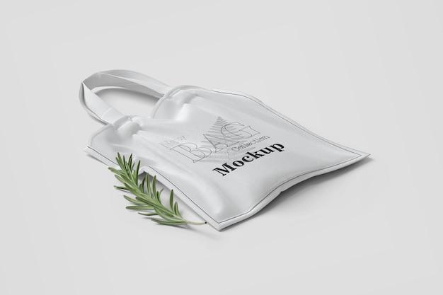 Mockup de bolso de mano blanco marca shooping