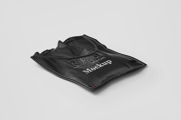 Mockup de bolso de mano negro marca shooping