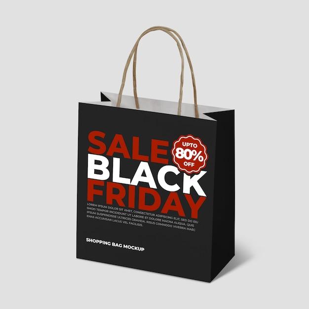 Mockup-boodschappentassen voor zwarte vrijdag