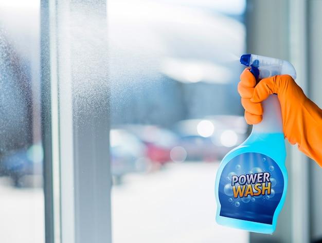 Mockup de botella de spray
