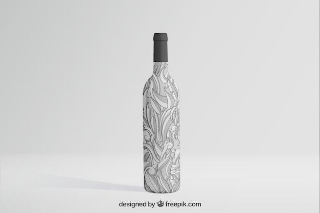 Mockup de botella de vino