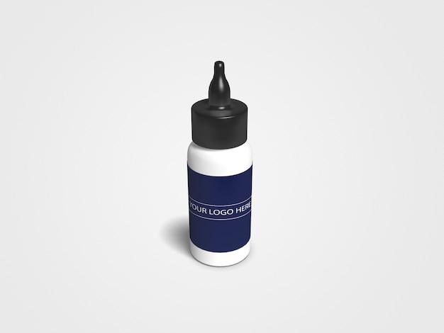 Mockup bottiglia contagocce