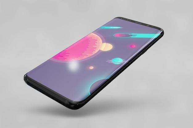 Mockup brilloso de smartphone