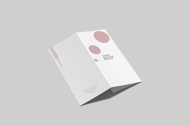 Mockup brochure a tre ante a4